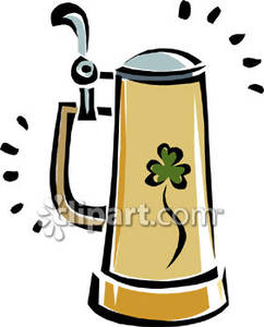 Irish Beer Stein Clip Art.