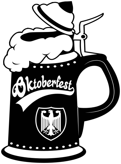 German beer stein clipart.