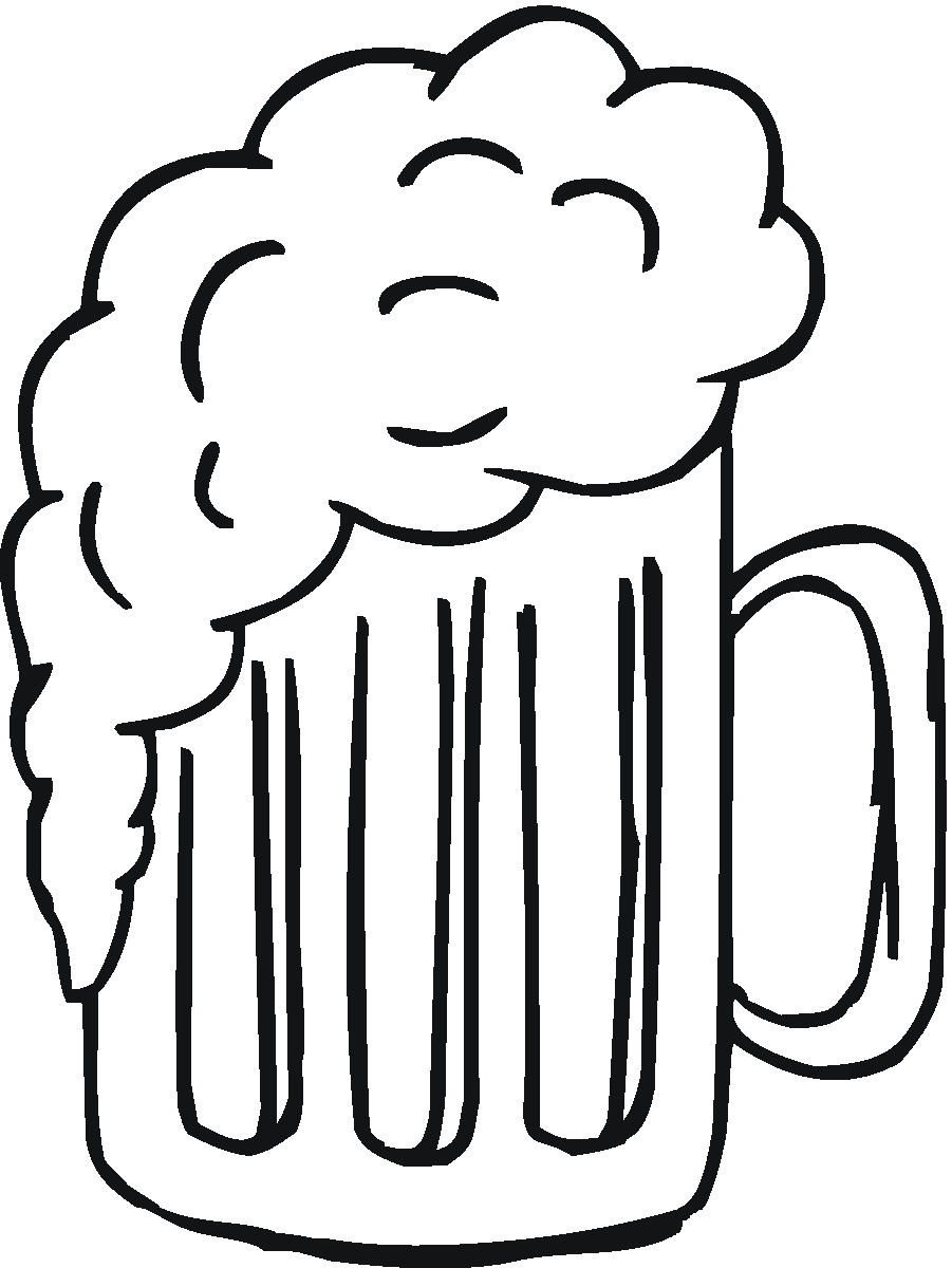 Free Beer Stein Clipart Black And White, Download Free Clip.