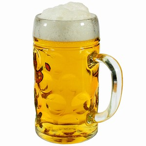1.3 Litre Glass Beer Stein Lined at 2 Pints x 6.