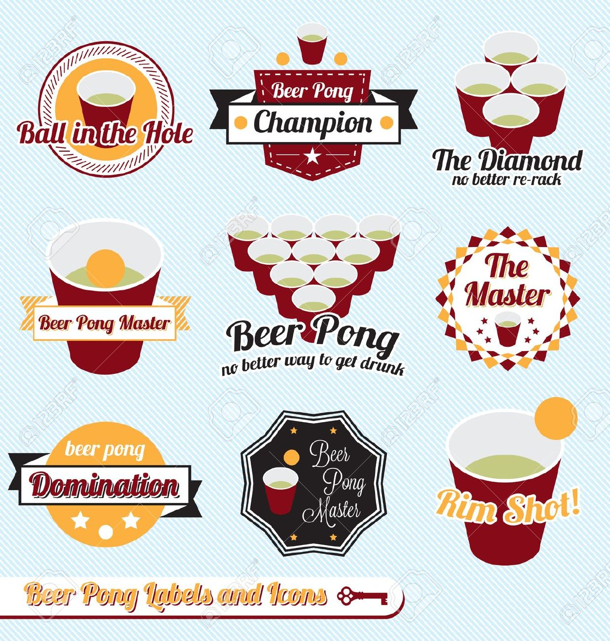 Beer pong table clipart.