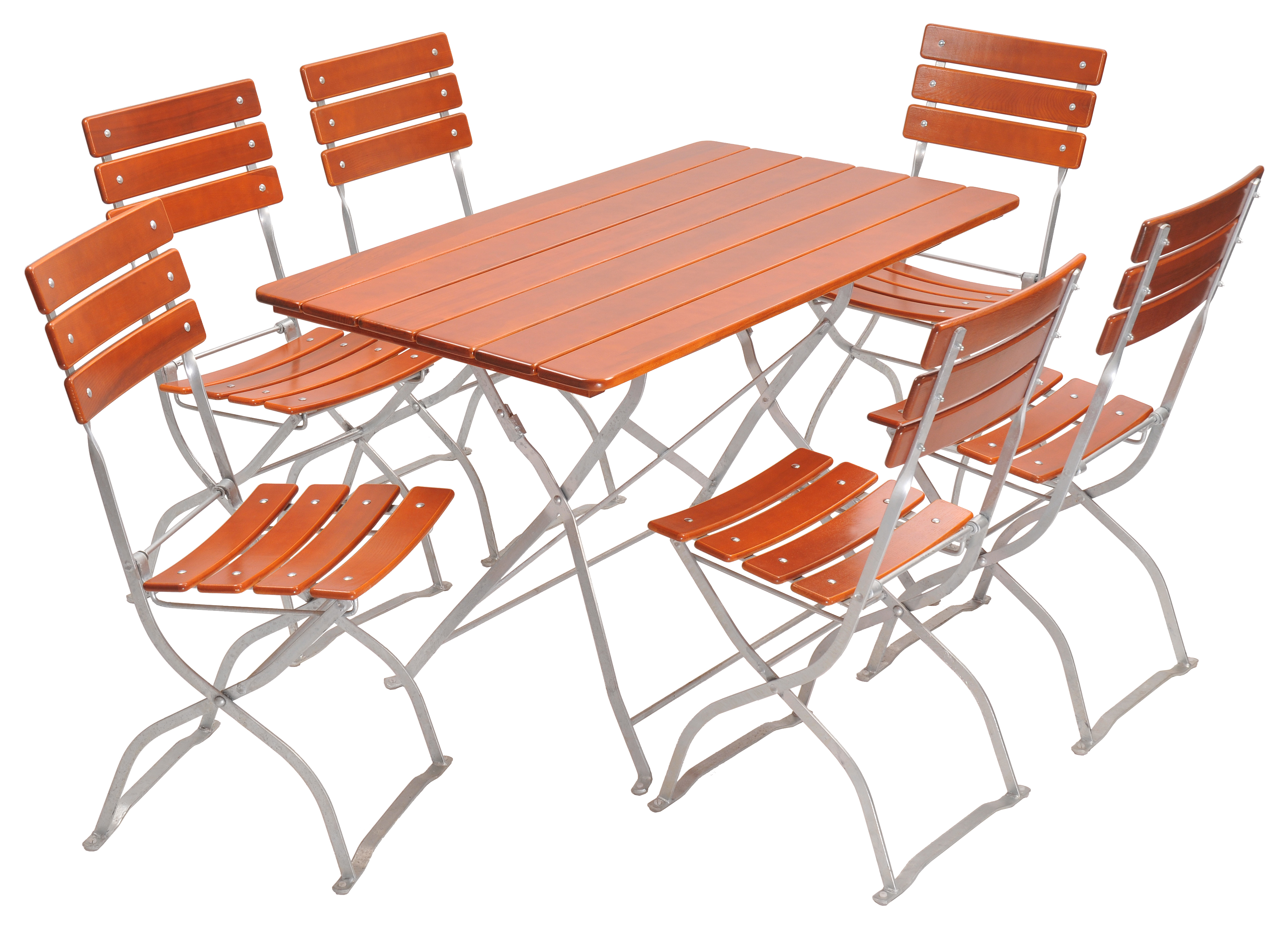 European Bistro Set, Rectangle Table and 6 Chairs.
