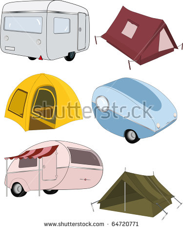 Tent Set Stock Photos, Royalty.