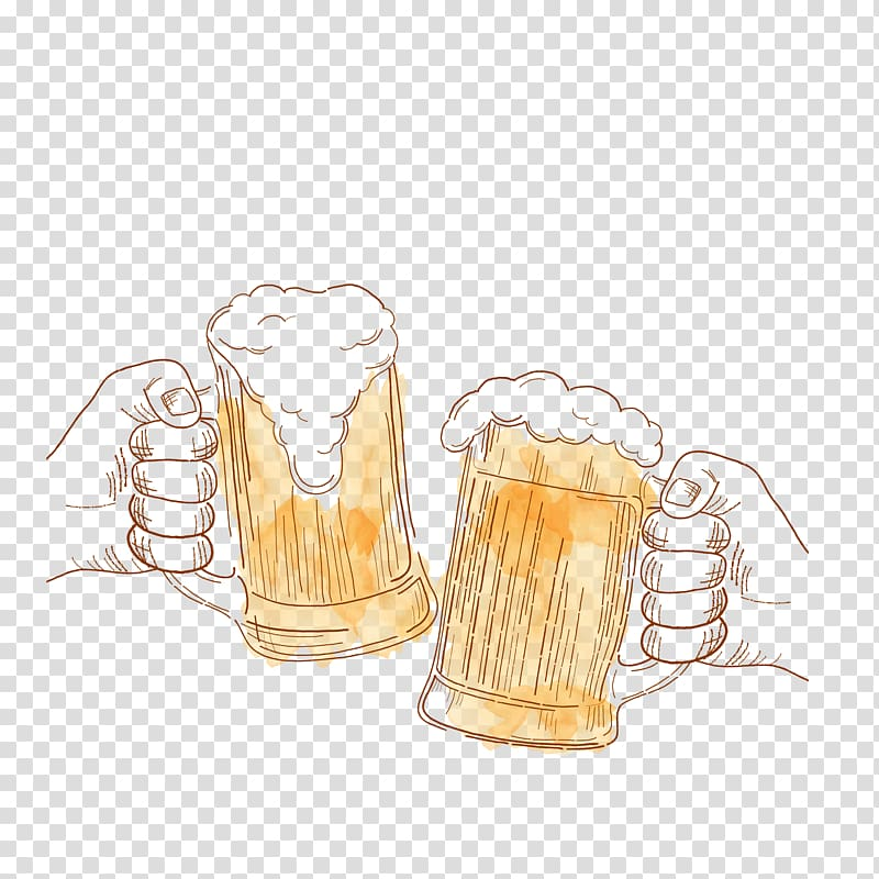 Illustration of beer mug, Beer Guinness Microbrewery Drawing.