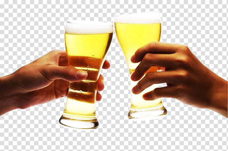 Two person doing cheers, Beer Cup Toast, Drink a toast toast.