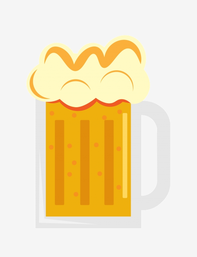 Cartoon Beer Beer Illustration, A Glass Of Beer, Beer, Wine PNG.