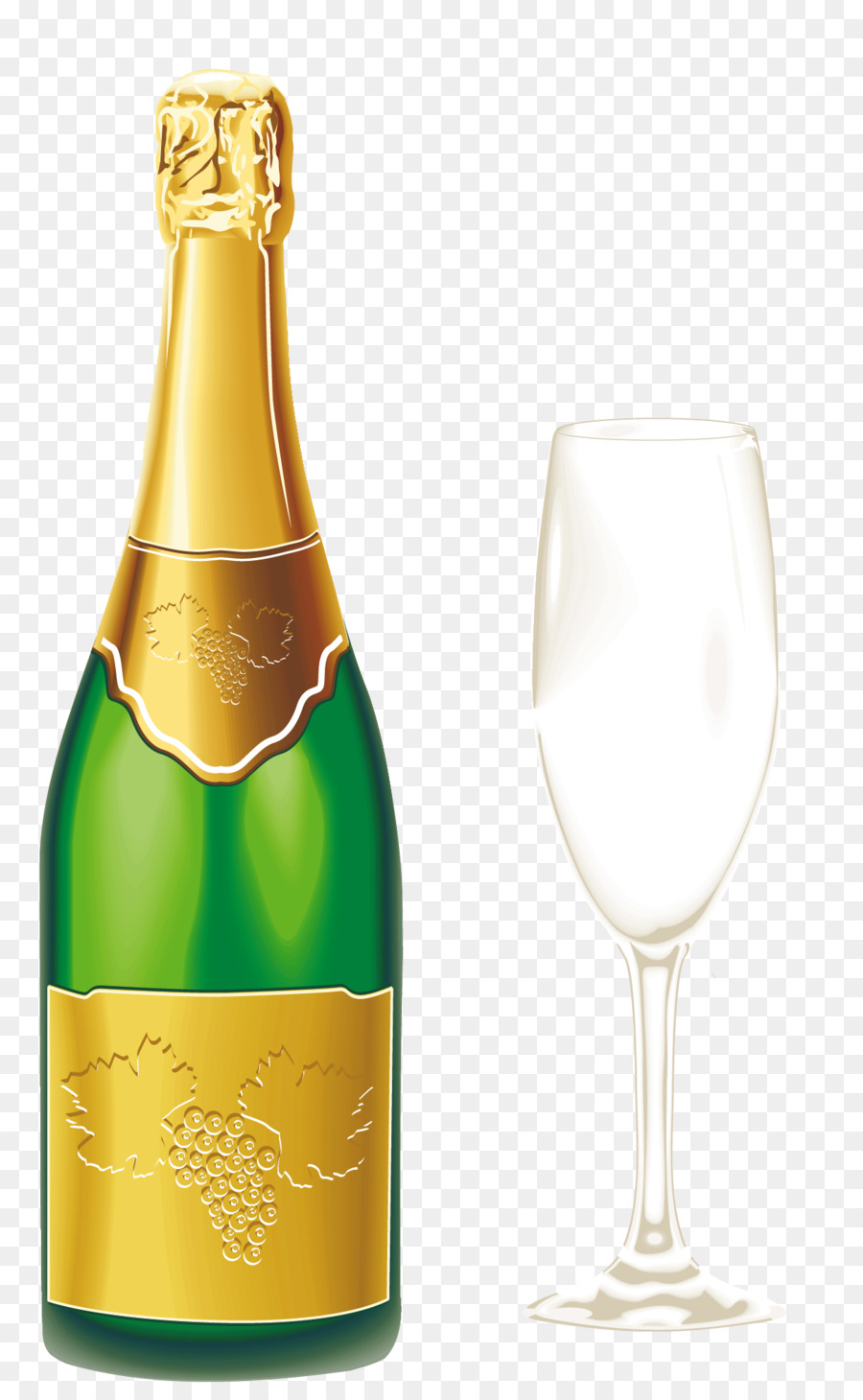 New Year Champagne png download.