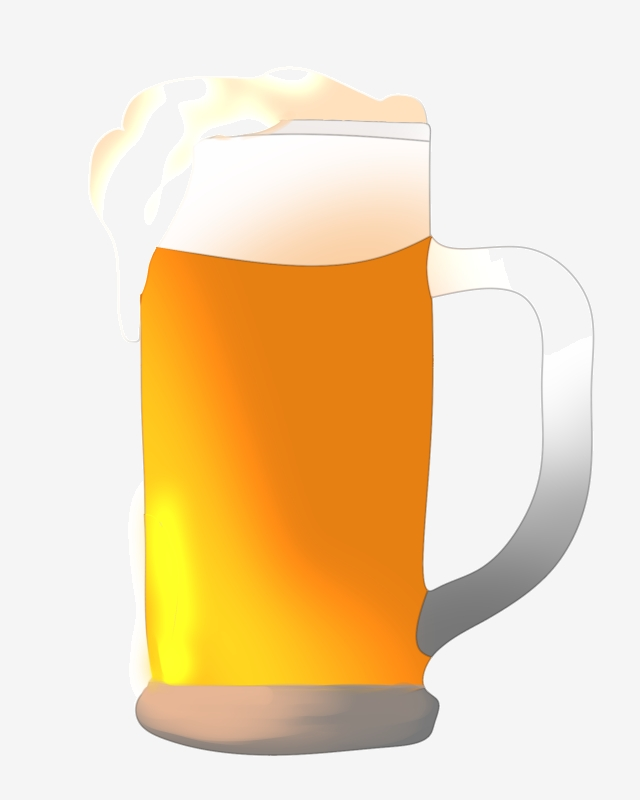 A Cup Of Bubbling Beer Illustration, Beer, Wine, Drinks PNG.