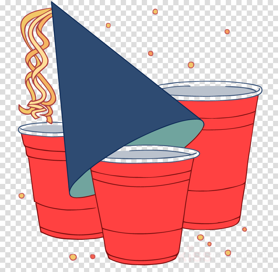 party supply clip art beer pong bucket line clipart.