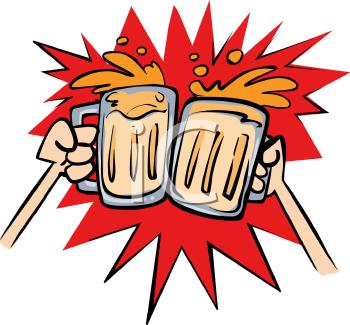 Beer Cheers Clipart.