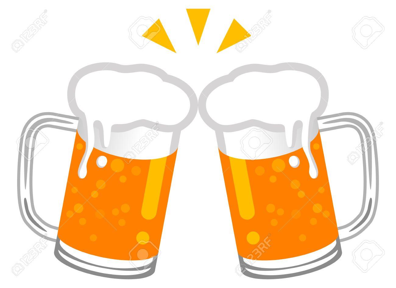 Cheers beers clipart.