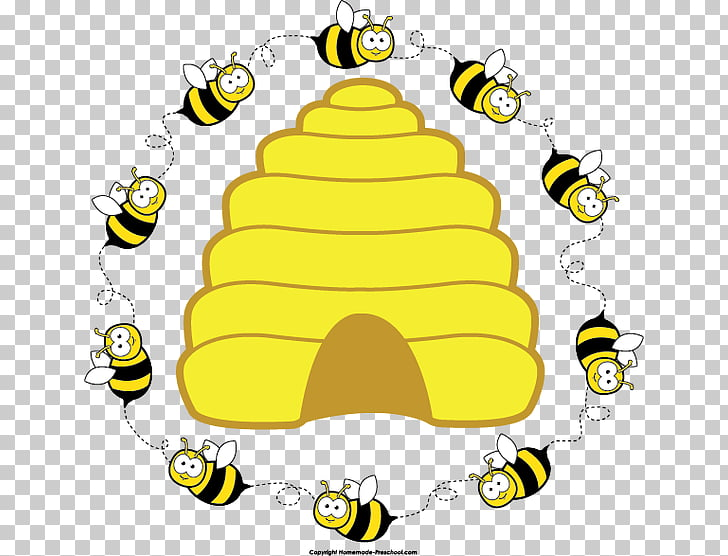 Beehive Honey bee , hive PNG clipart.