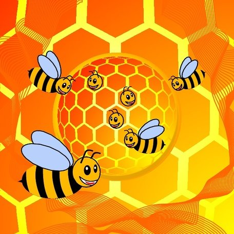 BEE HOUSE VECTOR.eps Clipart Picture Free Download.