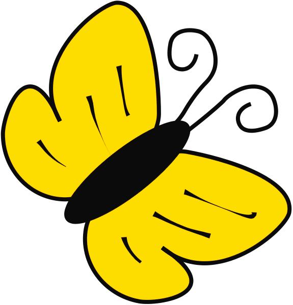 Bees And Butterflies Clip Art.