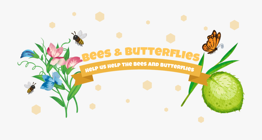 Bees Clipart Butterfly.
