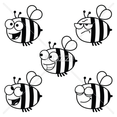 1509 Bees free clipart.