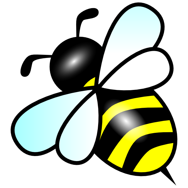 Black And White Bee Clipart.