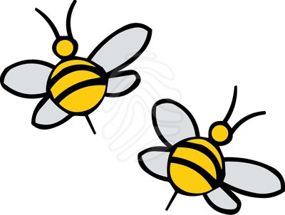 Flying Bee Clipart.