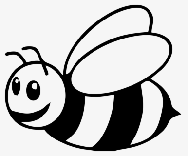 Free Bumble Bee Black And White Clip Art with No Background.