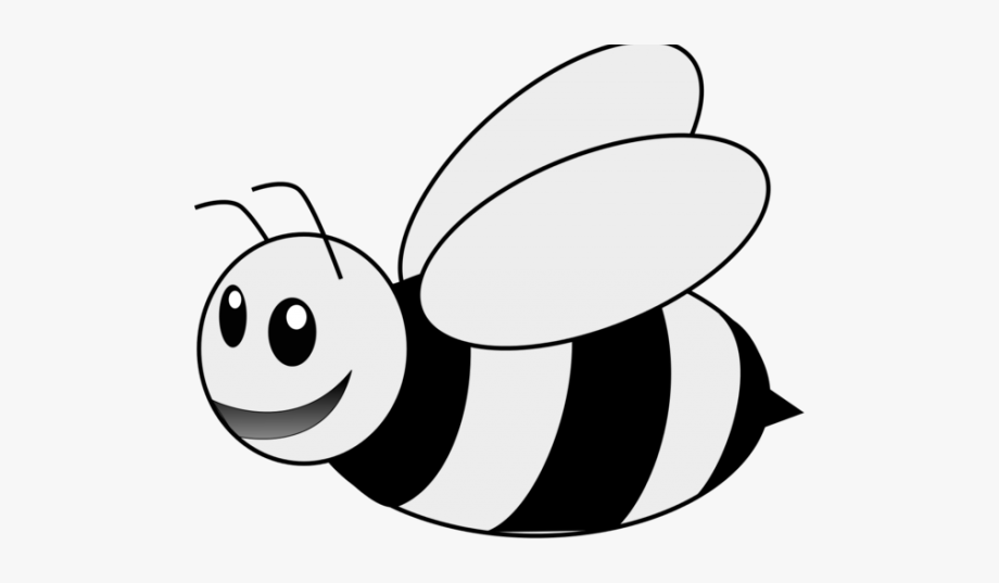 Bees Clipart Black And White.