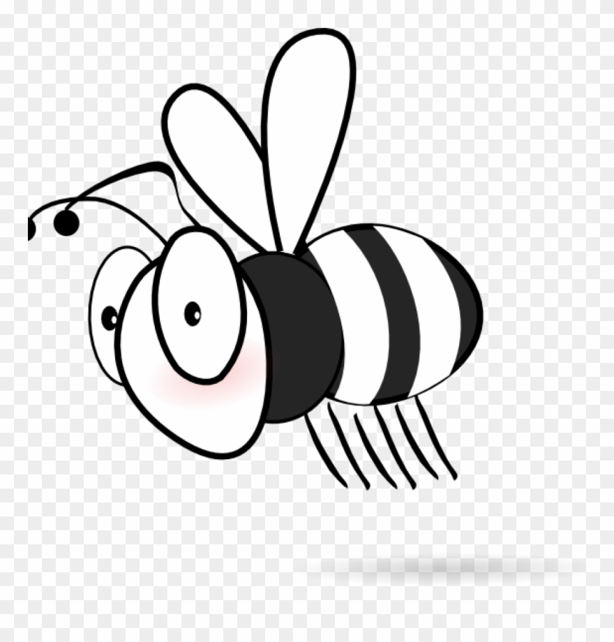 Bee Clipart Black And White Clip Art At Clker Vector.