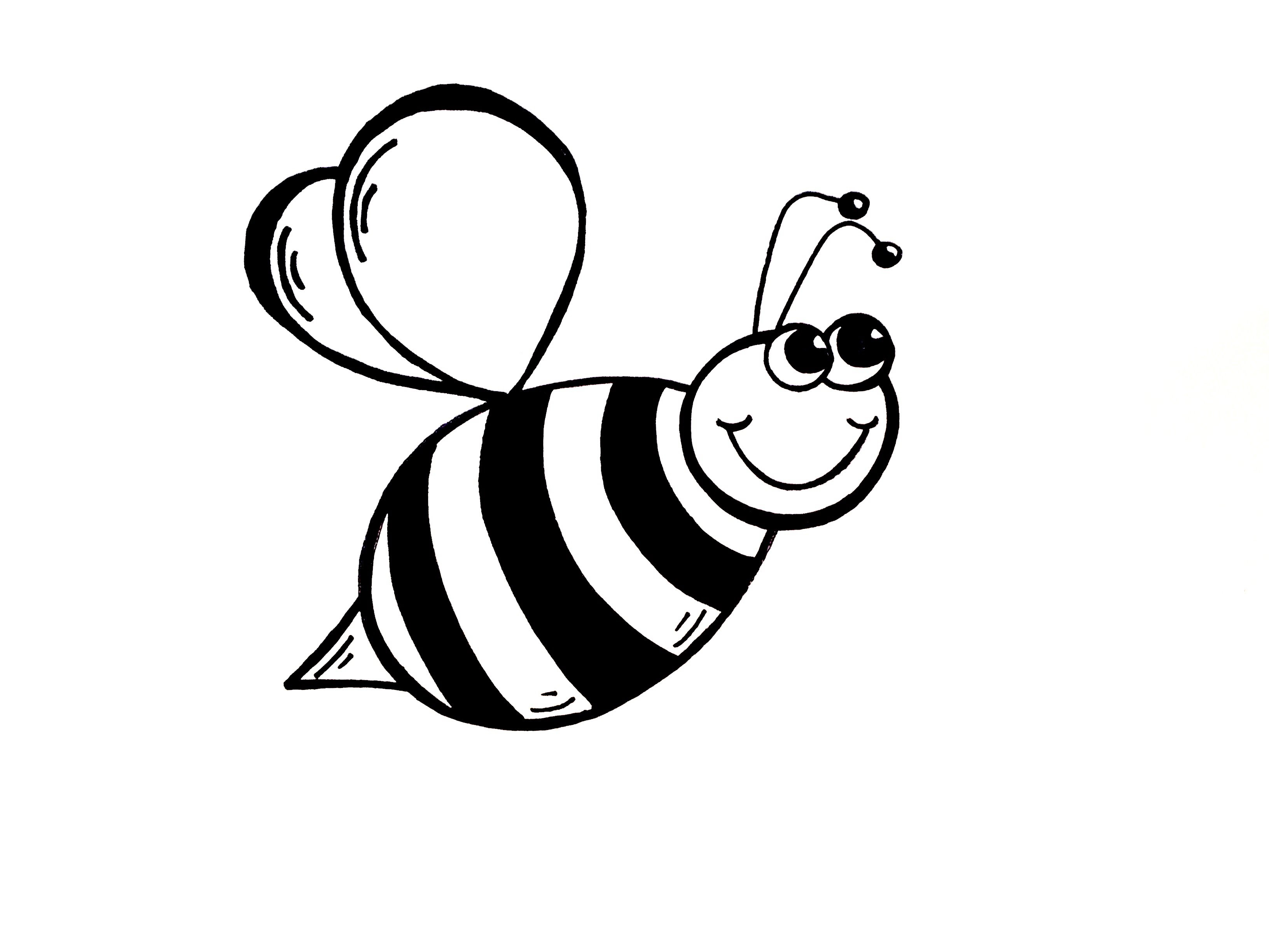 Bees clipart black and white, Bees black and white.