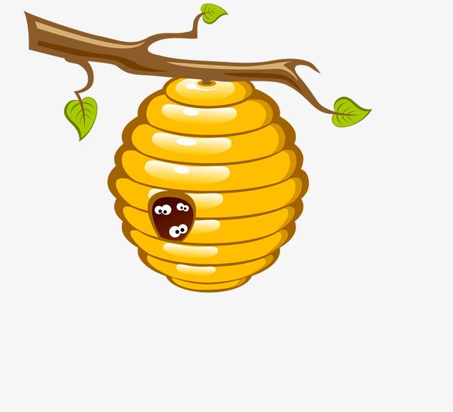 Vector Bee Nest, Bee Vector, Bee Clipart, Beehive PNG and Vector.