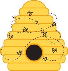Awesome honey bees nest clipart.