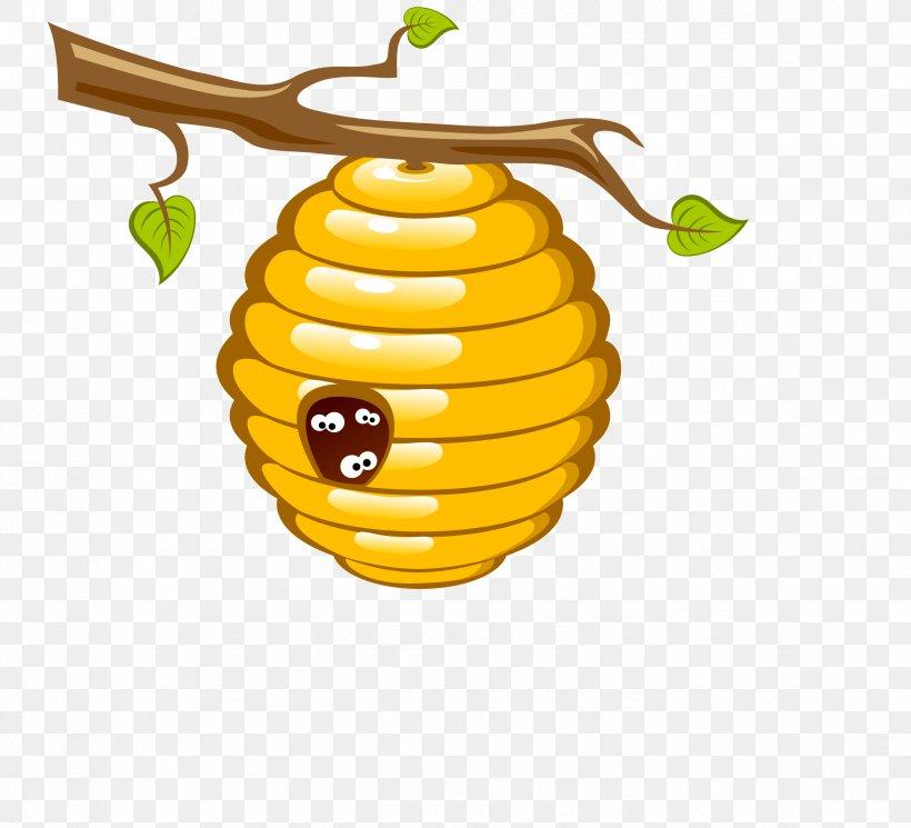 Honey Bee Beehive Clip Art, PNG, 2345x2133px, Bee, Bee Tree.