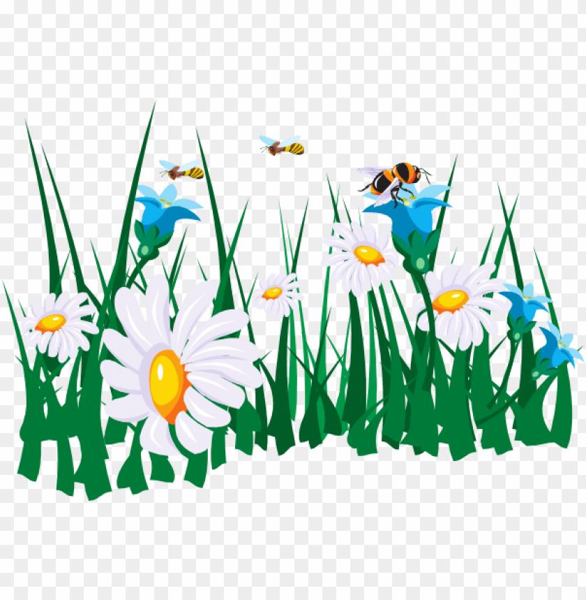 bee clipart grass.