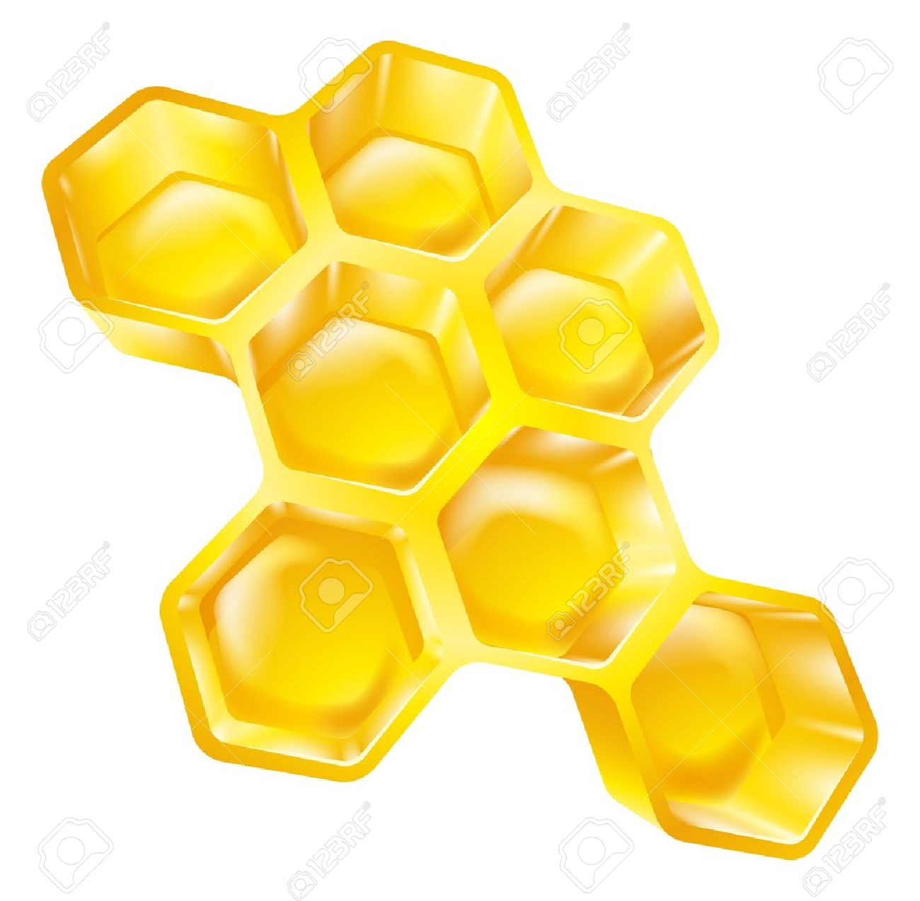Illustration Of Bees Wax Honeycomb Full Of Delicious Honey Royalty.