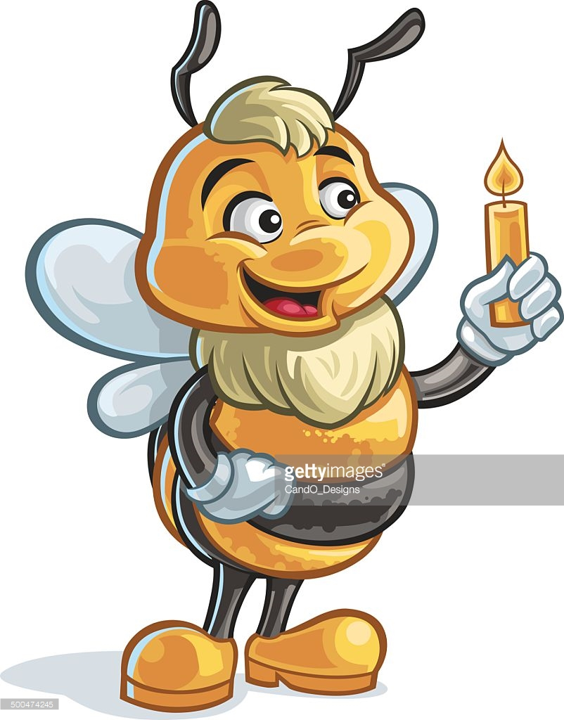 Beeswax Candle Vector Art.