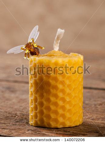 Beeswax Candles Stock Photos, Royalty.