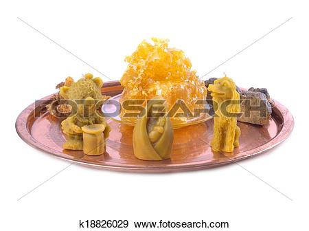 Stock Photograph of beeswax candle figurines k18826029.