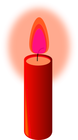 Beeswax Candle Clipart.