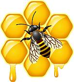 Clip Art of beeswax with bee k21578969.
