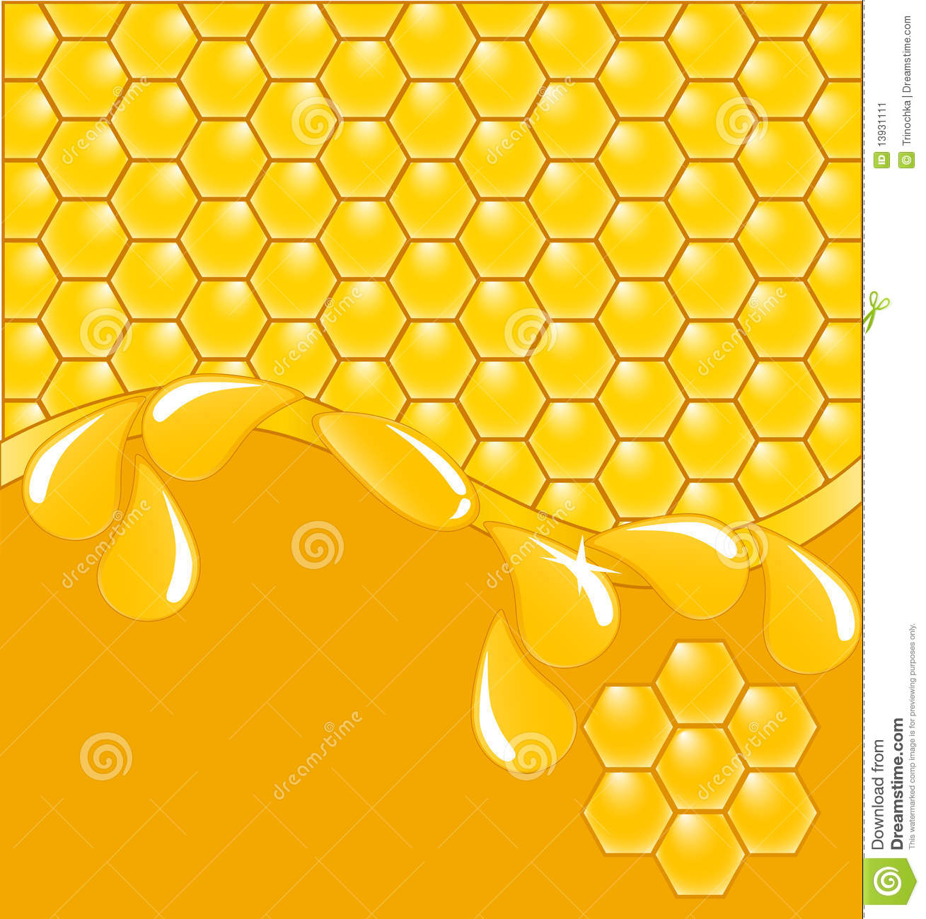 Drops Of Beeswax Stock Images.