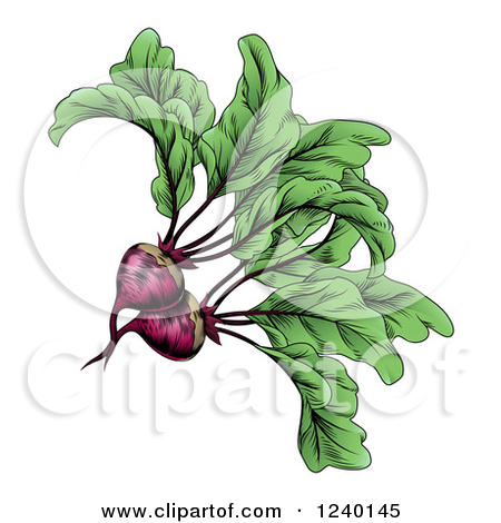 Clipart of a Vintage Woodcut Styled Beet in Black and White.