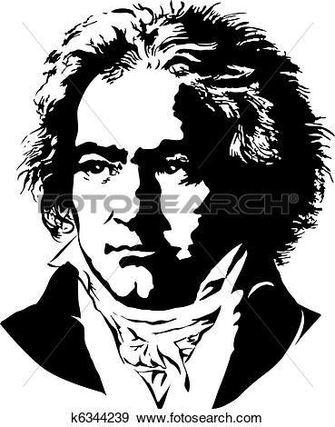Clip Art of Ludwig van Beethoven k6344239.