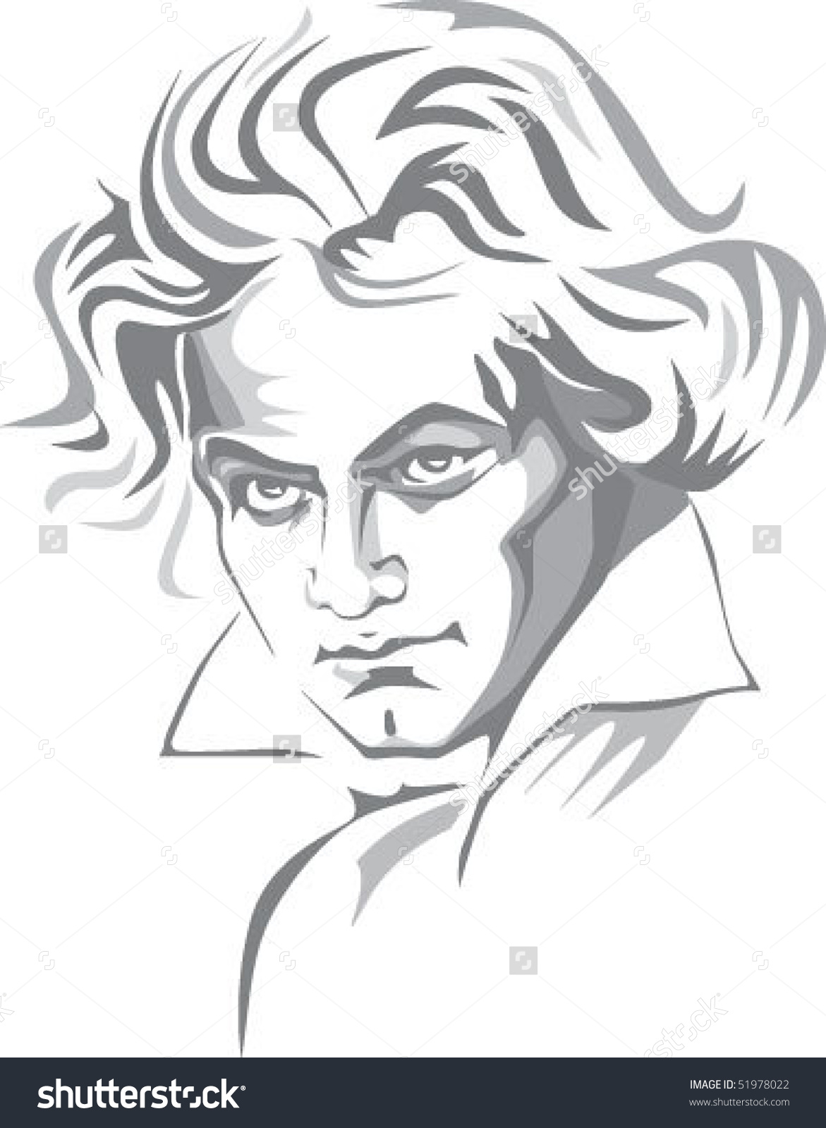 Beethoven Stock Vector 51978022.