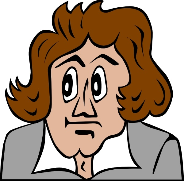 Beethoven Cartoon clip art Free vector in Open office drawing svg.