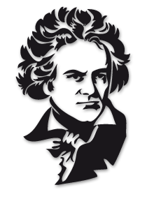 Beethoven clipart.