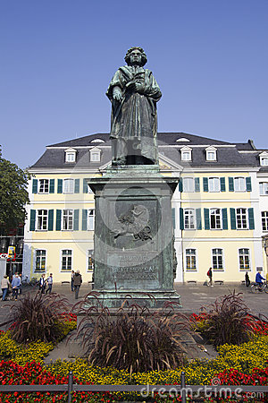 Beethoven Statue In Bonn, Germany. Stock Photo.