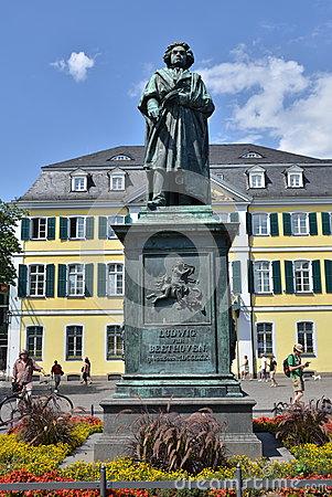 Ludwig Van Beethoven Wax Statue Editorial Photo.