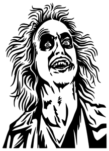 Details about Beetlejuice Decal Tim Burton Waterproof Vinyl Car Decal W/  White Background.