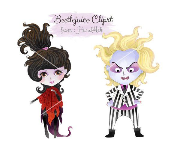 Beetlejuice characters clipart, Halloween clipart : instant download.