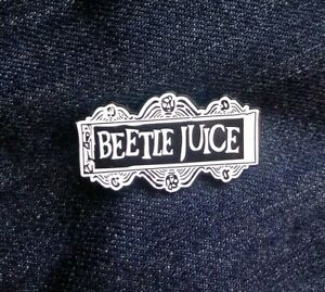 Details about Beetlejuice Logo Tim Burton Pin badge brooch metal enamel  retro goth US SELLER.