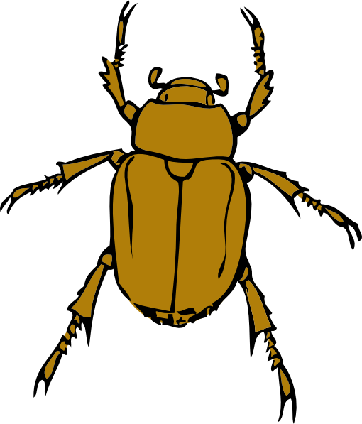 Cute Baby Beetles Clipart.
