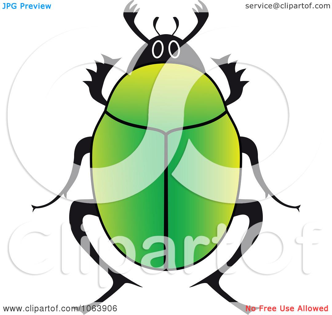 Clipart Green Beetle.