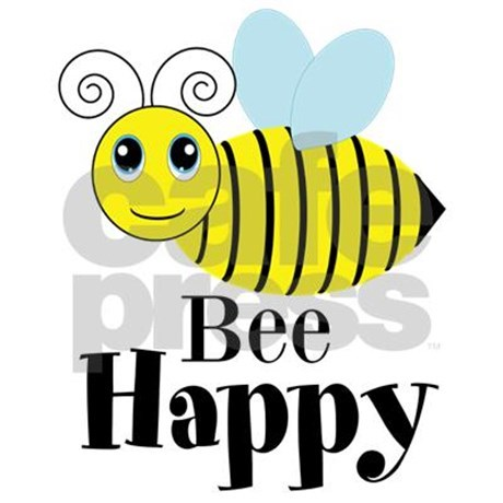 Bee Happy Honey Bee Yard Sign by Testingtesttess.